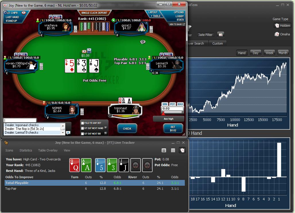 Poker Office Gränssnitt