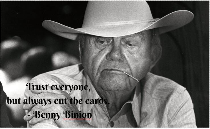 Benny Binion Pokercitat
