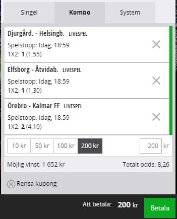 Svenska Spel Spelkupong