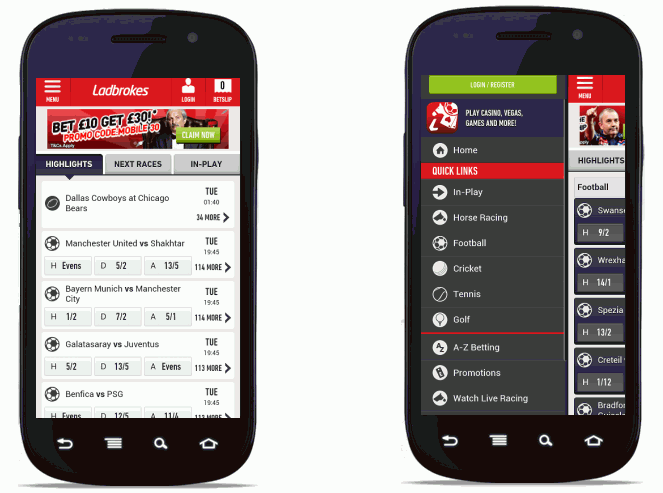 Ladbrokes Android App