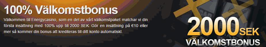 Energy Casino Välkomstbonus