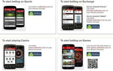 Ladbrokes app för Android
