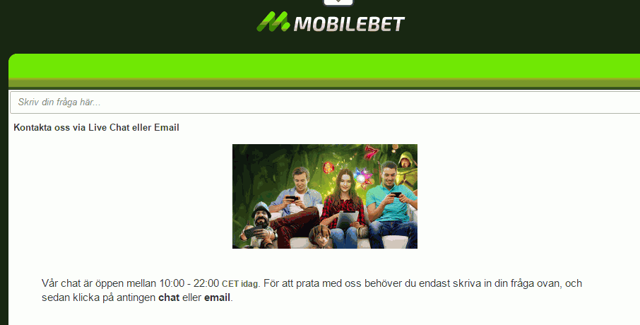 mobilbet kundservice