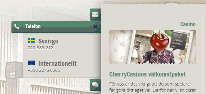 Cherry Casino recension support