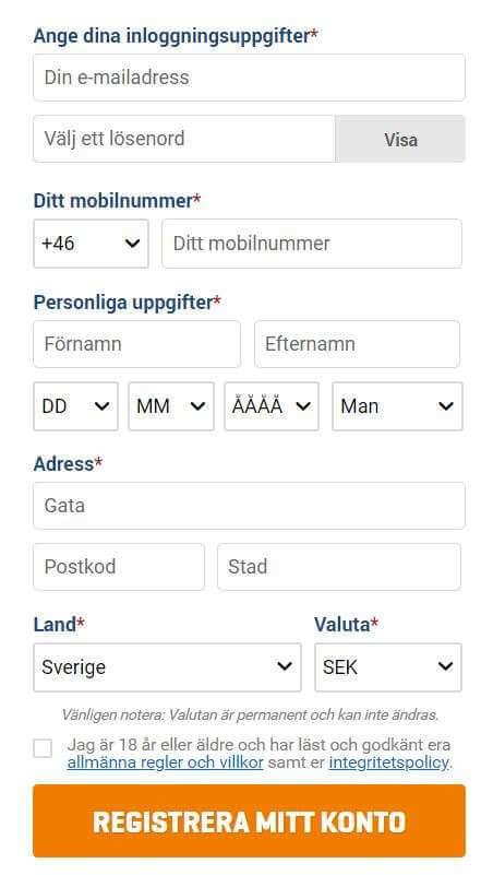 Nordicbet Registrering