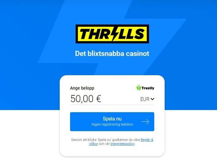 Thrills casino bonussystem